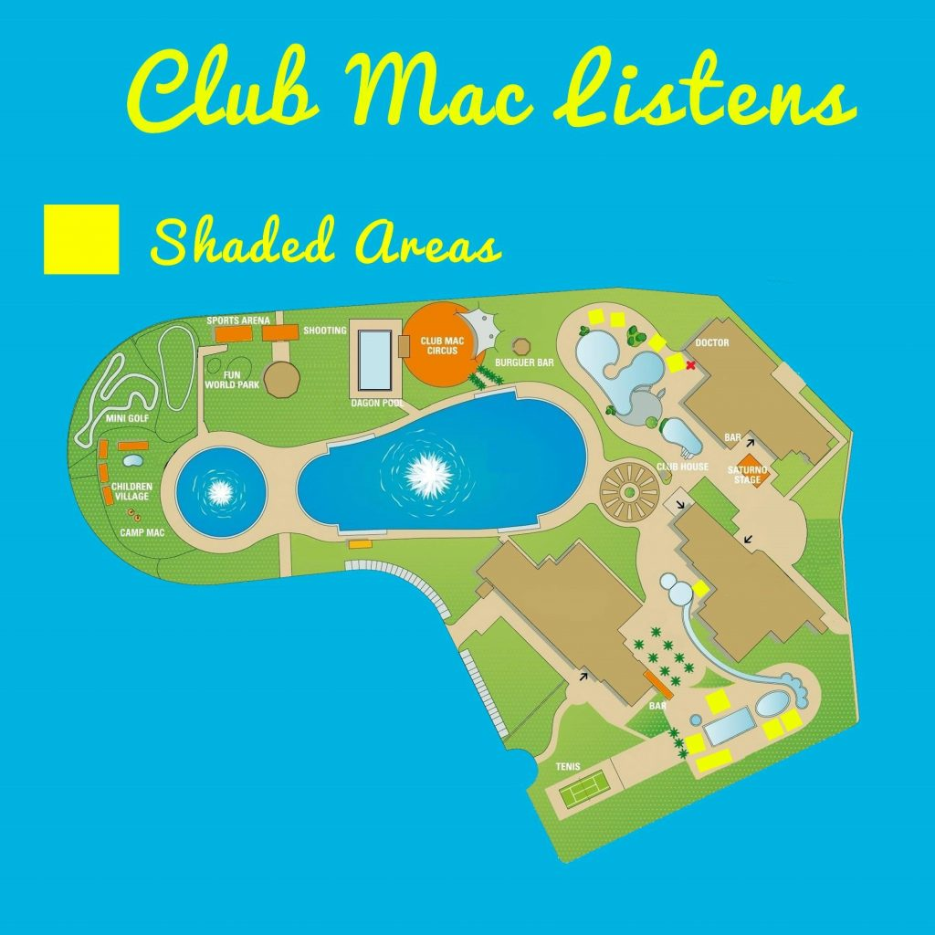 Club Mac map